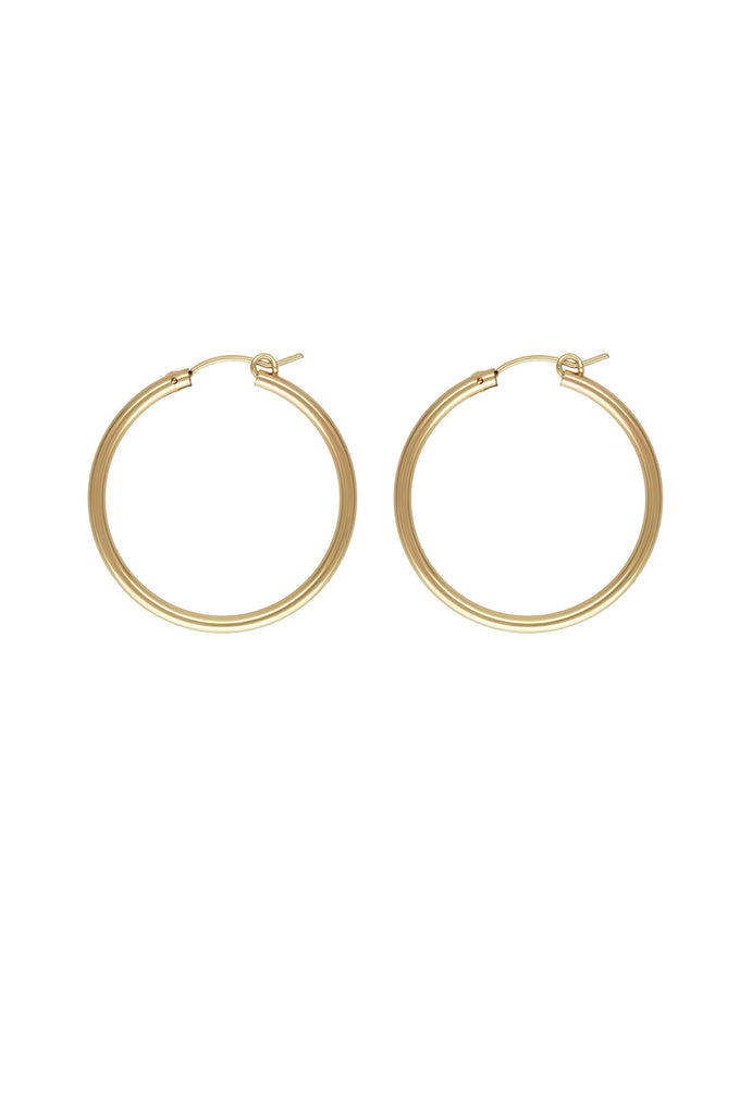 Sivan X Gold Hoop Earrings