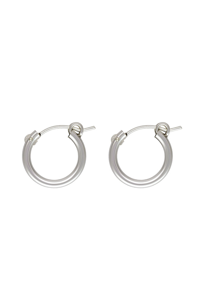 Sivan Baby Silver Hoop Earrings - KOOKII B