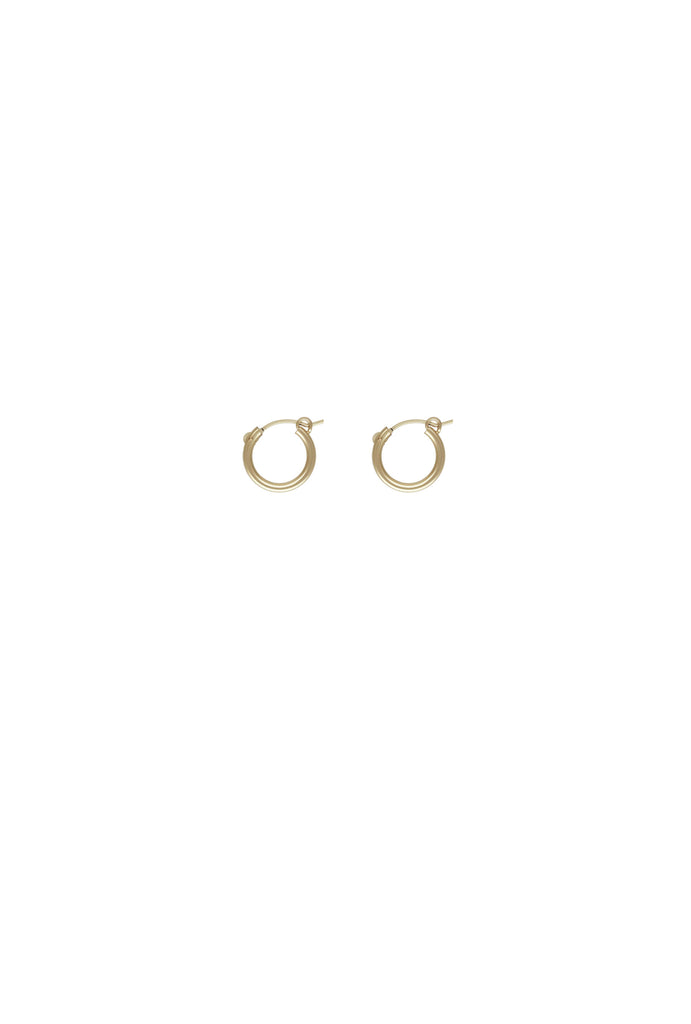 Sivan Baby Gold Hoop Earrings