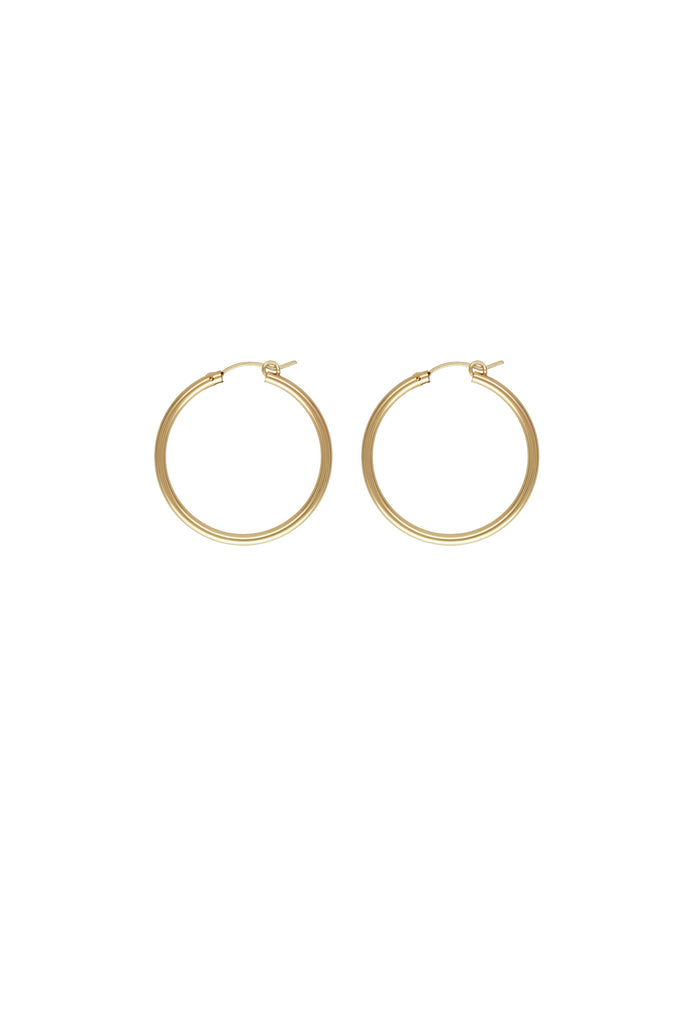 Sivan Maxi Gold Hoop Earrings
