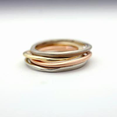 Carved multi rings
