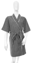 Load image into Gallery viewer, SleepyHead - Tricia Houndstooth Fleece Kimono Robe (4549468225570)