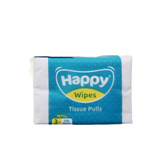 Happy Wipes - 3 Ply Tissue Pulls (4615890370594)