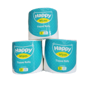 Happy Wipes - 3 Ply Tissue Rolls (4615892467746)