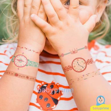 Baby Prime - Mideer Temporary Tattoo Watch and Bracelet for Girls (4816478896162)