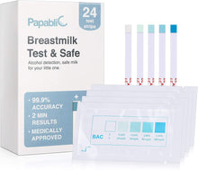 Load image into Gallery viewer, Kids Unlimited - Papablic Test & Safe Breastmilk Alcohol Test Strips (24 Strips) (4818826133538)