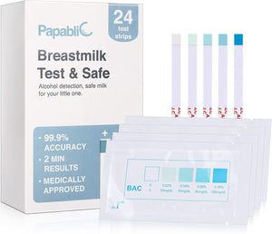 Kids Unlimited - Papablic Test & Safe Breastmilk Alcohol Test Strips (24 Strips) (4818826133538)
