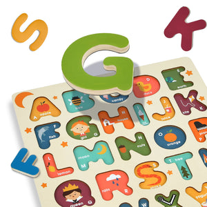 Baby Prime - Mideer Wooden Magnetic Puzzle - Alphabets (4816477290530)