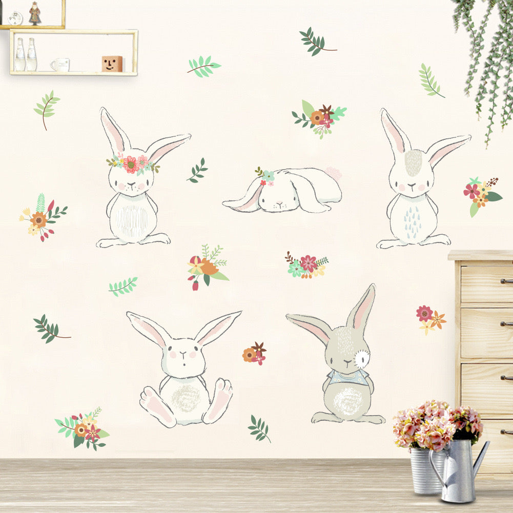 Baboo Basix - Down The Rabbit Hole Peel and Stick DIY Wall Decals (6541102678050)