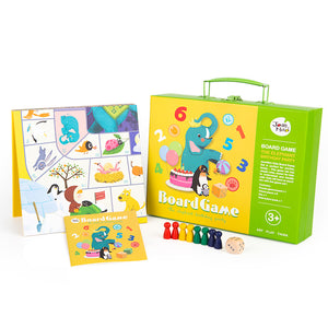 Bebe Bata - Joan Miro Flying Chess & Monopoly 2 in 1 Set (The Elephant Birthday Party) (4614388744226)