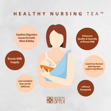 Load image into Gallery viewer, The Conscious Mama - Secrets of Tea Healthy Nursing Lemongrass Lactation Tea (4530677874722)