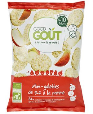Good GOÛT - Mini Rice Cakes with Apple 40g (10 mos) (6543531376674)