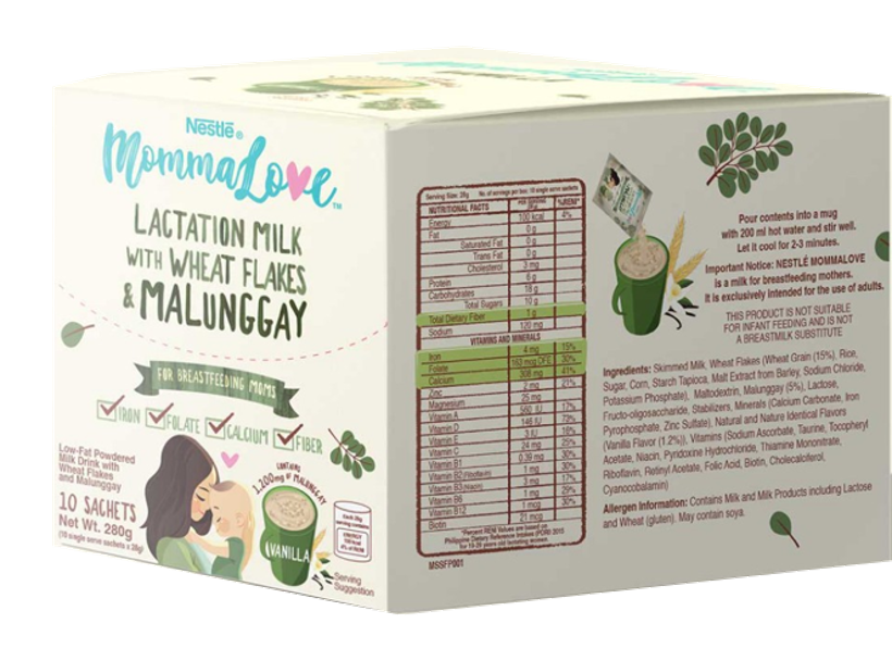 NESTLÉ - MOMMALOVE Vanilla Lactation Milk 28g (Pack of 10) (4828755886114)
