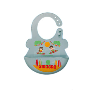 Orange And Peach - Silicone Food Bibs Siargao (4604958015522)