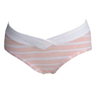 Adam and Eve - Postpartum Anti-bacterial Low-waist Stripe Pure Cotton Crotch Panty (6557559390242)