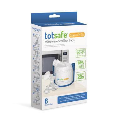STRATELA - Totsafe Steam N Go Microwavable Sterilizer Bags (6 bags per box) (4820458766370) (4826083524642)