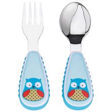 Load image into Gallery viewer, Happy Dragon - Little Hands Spoon and Fork (4550224904226)