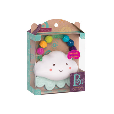 B. Toys - Rain- Glow Squeeze Light- Up Cloud Rattle (4539064942626)
