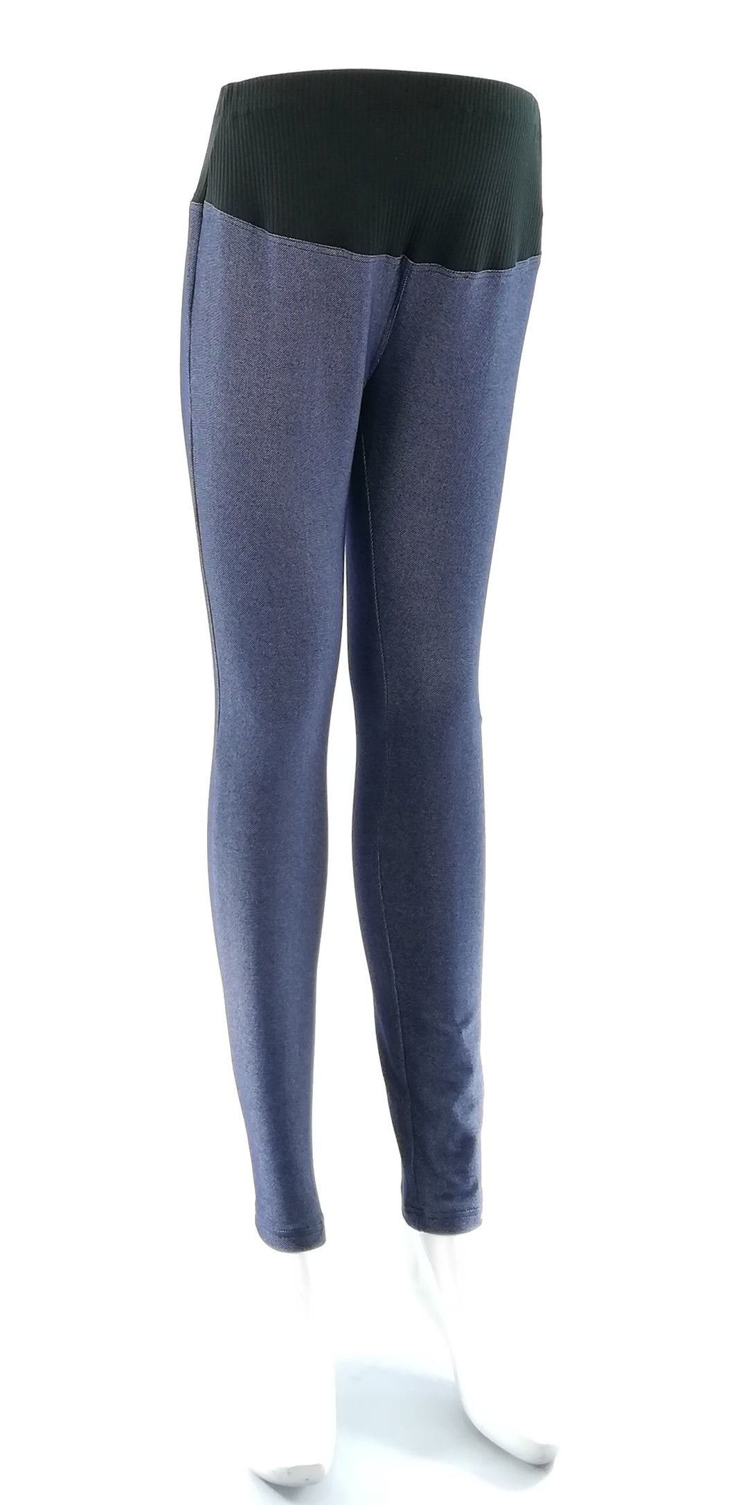 Mommy Plus - Pia Ribbed Maternity Jeggings With Adjustable Garter (4800298090530)