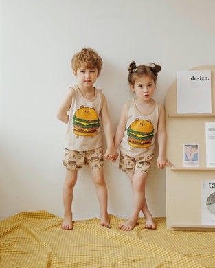 Oh, Holiday! PH - Unisex Burger Pajama Set by PUCCO (4616293580834)