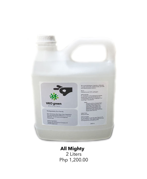 VKO green - All Mighty Disinfectant 2L (4538331791394)