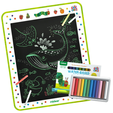 Baby Prime - Mideer Very Hungry Caterpillar Blackboard Sticker with 12 pcs chalk (4816478961698)