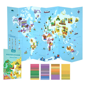 Baby Prime - Mideer World Map Poster Sticker (4816479060002)