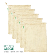 Load image into Gallery viewer, STRATELA - Zippies Organic Cotton Mesh Produce Bags (4820459257890) (4826079723554)