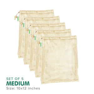 STRATELA - Zippies Organic Cotton Mesh Produce Bags (4820459257890) (4826079723554)