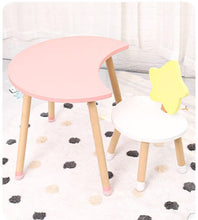 Load image into Gallery viewer, Juju Nursery - Moon and Star Table and Chair Set (4797203972130)