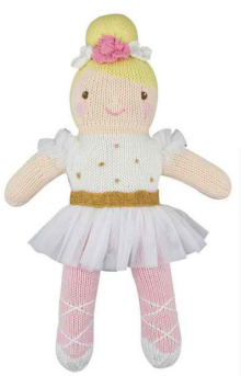 Zubels - Blakely the Ballerina Handknit Cotton Doll (4546810183714)