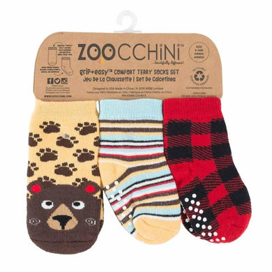 Zoocchini - Baby Safety Grip Socks (Set of 3) (4564276641826)