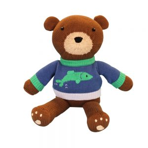 Zubels - Buddy the Brown Bear Handknit Cotton Doll (4564278837282)