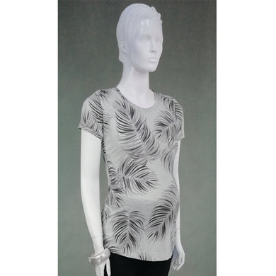 Mommy Plus - Ira Palm Print Maternity Shirt (4800361431074)