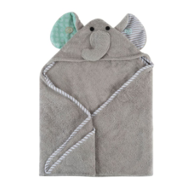 Zoocchini - Elle the Elephant Baby Hooded Towel (4545287782434)