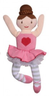 Zubels - Eva the Ballerina Handknit Cotton Doll (4546821390370)