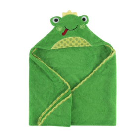 Zoocchini - Flippy the Frog Baby Hooded Towel (4545291223074)