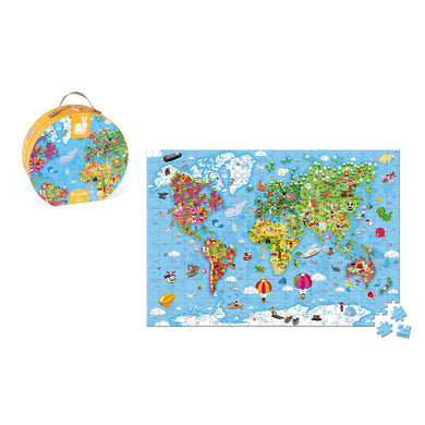 Babyzen - Hat Boxed Puzzle - Giant World Map (300PCS) (4800235896866)
