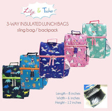 Load image into Gallery viewer, Lily and Tucker Studios - Insulated 3-Way Lunch Bag/Backpack (4518371393570)