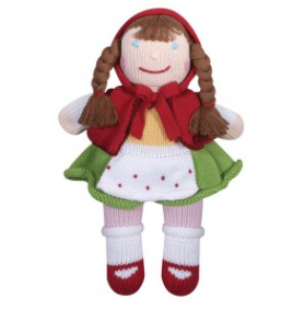 Zubels - Little Red Riding Hood Handknit Cotton Doll (4546829778978)