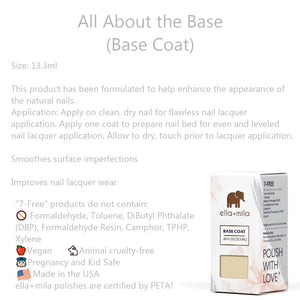 Clean Beauty Society - Ella+Mila  All About the Base (Base Coat) (4532365000738)