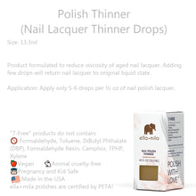 Load image into Gallery viewer, Clean Beauty Society - Ella+Mila Polish Thinner (Nail Lacquer Thinner Drop) (4532365295650)