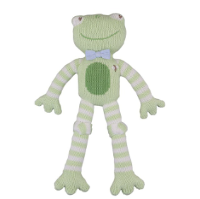 Zubels - Reginald the Frog Handknit Cotton Doll (4546838921250)