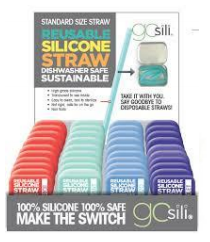Moms Unlimited - GoSili Reusable Silicone Straw with Tin Travel Case (4510385373218)