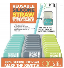 Moms Unlimited - GoSili Reusable X-Wide Straw with Tin Travel Case (4510390419490)
