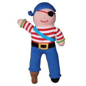 "Zubels - ""Arrr""-nee the Pirate Handknit Cotton Doll (4799385927714)"