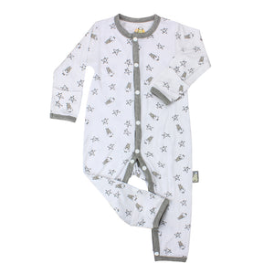 Baa Baa Sheepz - Button Long Sleeve Romper (4544377815074)