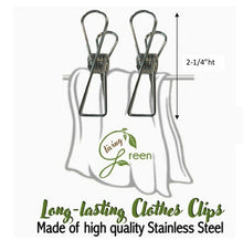 Load image into Gallery viewer, LunchBreak Keeps - Living Green Stainless 10-Piece Laundry Clips Set (4530227839010)