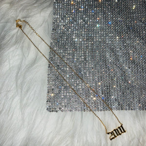 Stainless Steel Year Necklace
