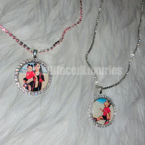 25mm Crystal Photo Pendant Necklace